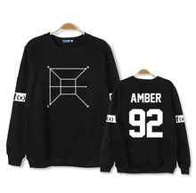 Autumn spring kpop fx concert same o neck hoodies fashion member name printing pullover sweatshirt  men women hoodies
