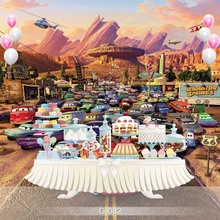 Buy Vinyl Photography Backdrop Cartoon Characters Cars Birthday Party Children Photo Backdground G-082 for $15.18 in AliExpress store