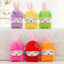 15cm Cute Mashimaro Plush Toy Doll Stuffed Fruits Rabbit Plush Toy Soft Pendant Wedding Dolls