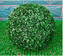 55CM Big size free shipping artificial grass ball green plants decorations for home garden market christmas holiday supplies(China)