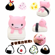 Slow Rising Jumbo Kawaii Cute Yummy Squishy Sushi Cat/Kitty/Pussy Phone straps Sweet Charm Scented Bread Kid Toy Gift Wholesales