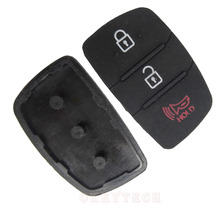 3 Button For Hyundai key HOLD pad three Button Rubber Silica Gel Replacement Key Cover Shell Case For Hyundai Or For Kia key Pad