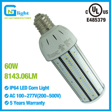 60W LED Garage / Low Bay / Area HID Retrofit Bulb - E26 Base - PC Cover - 250W MH HID Equivalent - 100-277VAC