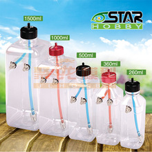 260cc/360cc/500cc/1000cc/1500cc Clear Transparent Plastic Fuel Gas Oil Tank Box for RC Fuel Gas Nitro Helicopter Accessories