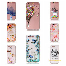 Cover For Huawei P10 Cases 3D Relief TPU Painted balloon flower leaf butterfly cat Pretty Case Phone Shell