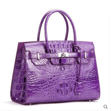 2018 OULUOER new style of new tide American crocodile leather female handbag crocodile skin women bag for lady's wrist(China)