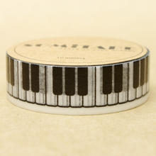 High Quality Piano Keyboard Washi Paper Masking Tape Cartoon Washi Tapes Scrapbooking DIY Sticker Diary Deco Photo Stickers