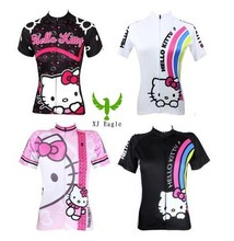 100% Polyester 2016 woman hello kitty Cycling Jersey Breathable Cycling Clothing Ciclismo/Quick-Dry Bicycle Bike Clothes