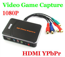 HD Video Capture EZCAP 1080P Game Capture HDMI YPbPr Recorder Box into USB Disk with Edit Software for XBOX One/360 For PS3