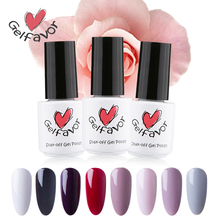 Gelfavor Nail Gel 58 Colors 7ml Soak-Off UV LED Long-lasting Nail Lacquer Primer Gel Nail Polish Gel Varnish