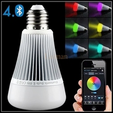 AC85-265V Mi Light LED light bulb E27 base milight Buletooth 4.0 Smart 8W RGB Dimmable Lamp Spotlight apple android LED lamp(China)