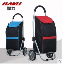 Huli Shopping Cart Buy a cart a small pull cart Folding trolley aluminum portable luggage carts luggage trailer