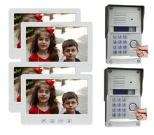 "New Arrival Luxury Multi-thin 4X10.1""Display Screen Video Door Phone +2XMetal CCD Camera With FRID Panel,Support IP Camera"