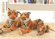 1pc 30cm 40cm simulation realistic south china tiger plush doll novelty creative romantic girl festival stuffed toy gift