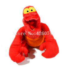 New The Little Mermaid Sebastian Mini Plush Key Chain Small Pandant Kids Stuffed Animals Toys For Children Gifts 13CM
