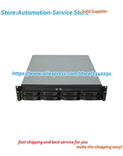 2U chassis 8 disk hot plug chassis case server ultra short support ITX motherboard PC power supply