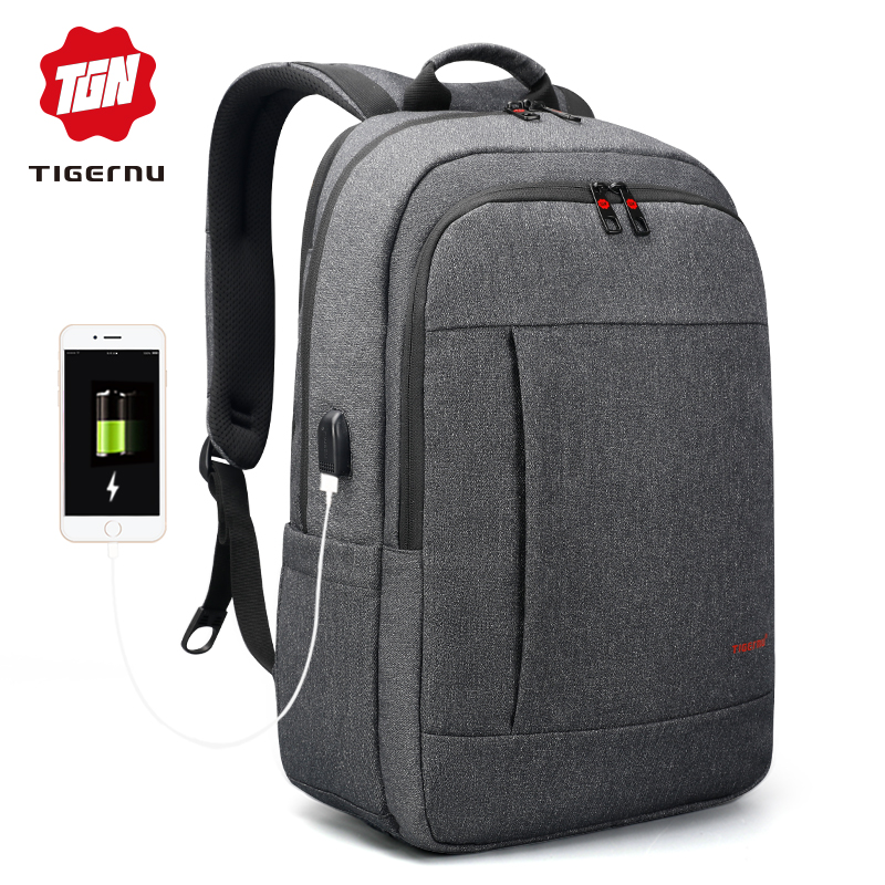 Tigernu Anti thief USB bagpack 15.6 to 17inch laptop backpack for Women Men school Bag for Female Male Travel Mochila feminina(China)