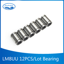 Free shipping  12pcs/lot lm8uu linear bearing 8mm linear brushing ball bearing  for 3d pringter cnc parts