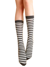 3 Color Thigh High Long Socks of 2016 Fall for Women Ladies Black Color Over The Knee Fashion Zebra Striped Pattern board
