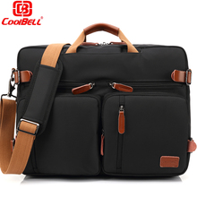 Convertible Backpack Laptop bag 17 17.3 inch notebook bag shoulder Messenger Bag Laptop Case Handbag Business Briefcase Rucksack(China)