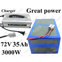 Great Power 72v 35Ah 72v 3000w electric bike kit 1000w 72v 2000w 35Ah 30Ah battery pack for tricycle bike scooter cart +Charger