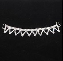 1 Piece 16cm Beautiful Design Dangle Pendant Rhinestone Headband Connector/Buckle/Chain for Girl Baby Swimming Wear