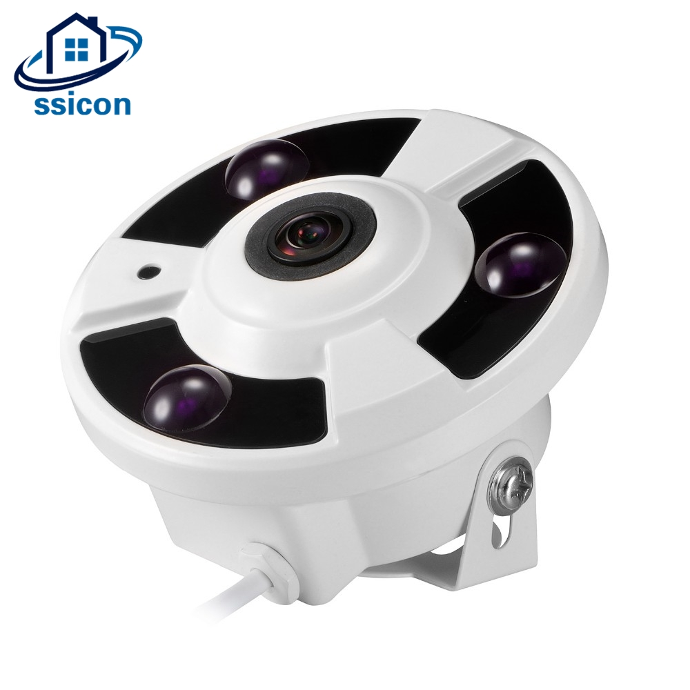 SSICON 1.7MM 180 Degree Security Fisheye Camera Housing Analog Surveillance Cameras Metal Indoor<br>