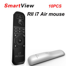 10pcs Rii Mini i7 2.4G Wireless mini Gaming Fly Air Mouse Remote Control for Android TV Box X360 PS3 Smart PC(China)