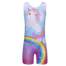 0a5775a1b8 BAOHULU niñas una pieza Ballet gimnasia leotardos moda unicornio de y arco  iris Biketards danza sin