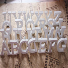 Home Decor Decoration thick Wood Wooden White Letters Alphabet Wedding Birthday 8cmX1.2cm Hot Sale ma