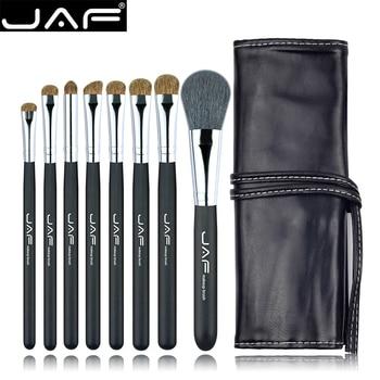 Studio 8 unids Make Up Brush Sets en Kit de Pinceles de Maquillaje Estuche De Cuero con Cadena J0811YC-B Pelo Natural de Los Animales