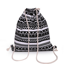 Buy Outdoor Canvas Drawstring Backpack Newest Vintage College Students School Bagpack Camping Hiking Climbing Sports Bag for $2.94 in AliExpress store