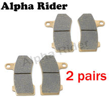 4 Pcs Motorcycle Front Brake Pads for Harley V-Rod 2005-2006 FLHR Road King FLHTC Electra Glide Classic 2008 2009 2010 2011 2012