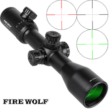 Free shipping 2017 NEW Fire Wolf 3-12X42 SF Riflescopes Rifle Scope Hunting Scope w/ Mounts(China)