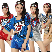 2017 Hoy Sexy Women Hip Hop Clothing Football Girl Cheerleading Uniforms Performance Costume