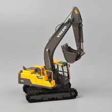 New 1/50 VOLVO EC220D Diecase Metal Yellow Crawler Excavator Engineering Car Models Toys Collections
