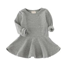 New Autumn Winter Kids Toddlers Girls Dresses Cotton Long Sleeve Princess Dress Children Girl Clothes S2
