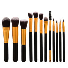 2017 Hot Recommend 12pcs Makeup Brushes Set Eyeshadow Foundation Blending Concealer Eyeliner Lip Cosmetic Makeup Tool Best Price