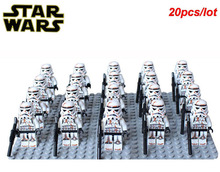 20pcs/lot Star Wars sw364 Stormtrooper Sandtrooper Compatible 9490 Droid Escape Sandtrooper sw383 building block toys