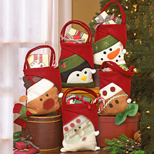 Navidad Christmas Gift Bags Santa Claus Candy Bag Snowman Elk Children Gift Holders Santa Sacks Festival Party Home Decoration