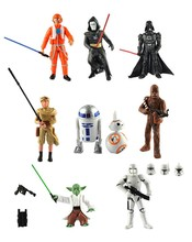 9Pcs/set Star Wars The Force Awakens BB-8 Darth Vader R2-D2 Chewbacca Yoda PVC Action Figures Model Toys For Boys Toys Kids Gift