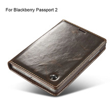 Luxury Brand Flip Cover For Blackberry Passport 2 Case Genuine Real Leather Wallet With Stand Card Holder Original Phone Case