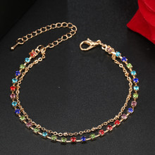ns17  Free Shipping Charm Bracelet gold color chain link bracelets crystal lover women heart bracelets jewelry gift