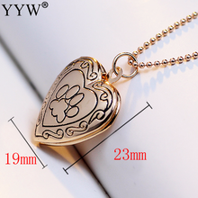 heart necklace for women 2017 choker necklaces & pendants fashion jewelry Animal Lover Dog Paw Print Photo Frames Can Open