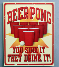 30X40CM Beer Pong Tin Sign for Wall Decor Coffee Store  Metal Sign Vintage  Art Poster Retro Plaque\Plate