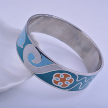 Mother's Day width 20mm Fashion Enamel stainless steel Bangle jewelry ,  fish big bracelet,  Wristband Pulseras Mujer