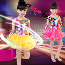 New Fiber Optic Fabric Ballet Costume Dress Dance Party Rainbow Tutu Toddlers Tutus Rainbow