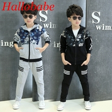 2017 NEW Spring Children Boys Clothing Set Cotton Girls Sports Costume Kids Clothes Boys Tracksuits Set Teenage Sweatershits