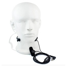 2 Pin Throat Mic Headset Air Tube Earpiece for Motorola GP300 88s 2000 CT Walkie talkie Ham Radio Portable C9008A Fshow