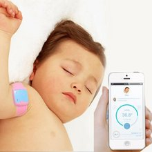 Electronic Bluetooth Smart Baby Thermometers Health Care Children Intelligent Wearable Baby Monitor Household Thermometer #2358